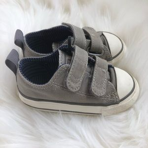Grey Velcro Converse AllStars Size 5